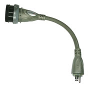Picture of Furrion  30F/15M Pigtail Locking Power Cord Adapter 381705 19-8168