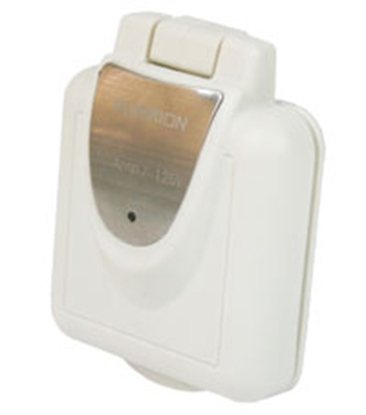 Picture of Furrion  White 30A Outdoor Square Single Receptacle w/ Cover 381656 19-8169