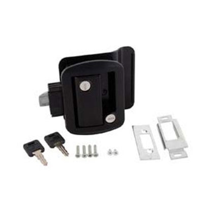 Picture of AP Products  Black Lockable Entry Door Latch 013-570 20-0031