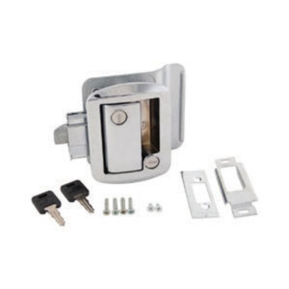 Picture of AP Products  Chrome Lockable Entry Door Latch 013-572 20-0033