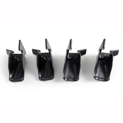 Picture of Camco  Set of 4 Black 2-L/2-R Drip Rail Gutter Spout 42110 20-0197