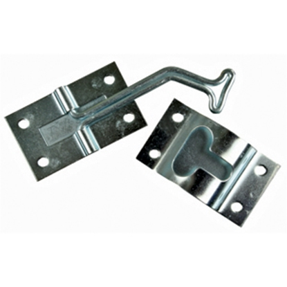 Picture of JR Products  Zinc Finish Metal 45 deg Entry Door Holder 11755 20-0198