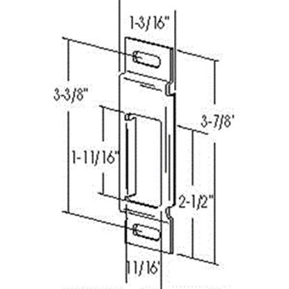 "Picture of Dexter Door  3-7/8""H x 1-3/16""W Deadbolt Strike Plate for TriMark 4264-00 20-0450"