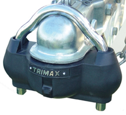 "Picture of Trimax Locks  2-5/16"" Steel Hitch Ball & Clamp Trailer Coupler Lock UMAX100 20-0462"