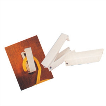 Picture of Camco  2-Pack Plastic White C-Clip Style Baggage Door Catch 44173 20-0611