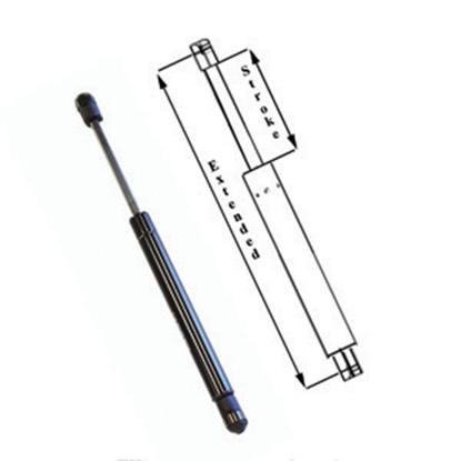 "Picture of AP Products  17"" 55 Lbs Gas Spring With Eyelet Mounts+ 010-075 20-0622"