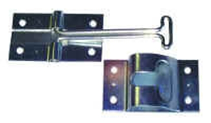 """Picture of JR Products  Stainless Steel 4"""" Straight Entry Door Holder 10495 20-0666"""