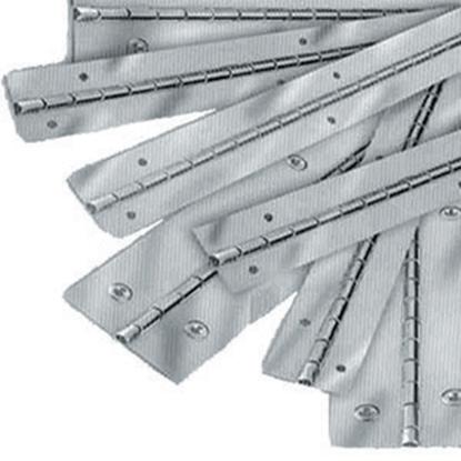 """Picture of ETD  Aluminum .042 x 1-1/4"""" x 72"""" Continious Hinge ETD212 20-0712"""