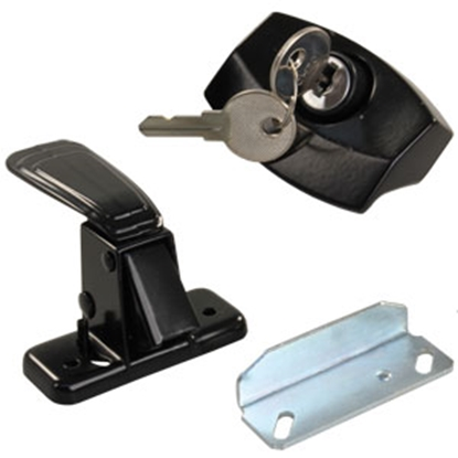 Picture of JR Products  Black Entry Door Latch 11675 20-0752