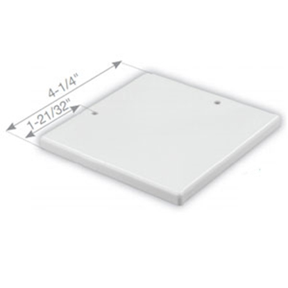 "Picture of JR Products  Polar White 4-1/4"" Square Slide-Out Extrusion Cover 55931 20-1122"