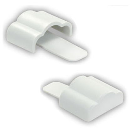 "Picture of JR Products  1-Set Polar White 3/4"" x 3/4"" x 3/8"" Full Extrusion End Cap 49615 20-1142"