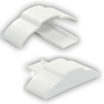 "Picture of JR Products  1-Set Polar White 3/4"" x 1-7/8"" x 3/8"" Full Extrusion End Cap 49635 20-1168"