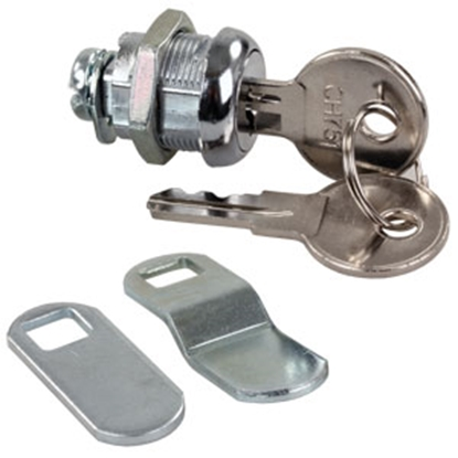 "Picture of JR Products  5/8"" Standard Key Baggage Door Lock 00305 20-1215"