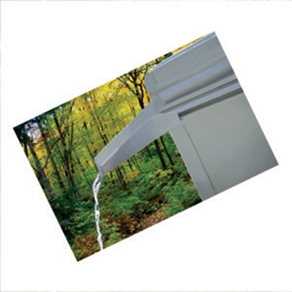 Picture of JR Products  Set of 2 White 1-L/-R Drip Rail Gutter Spout 655-PW-A 20-1258