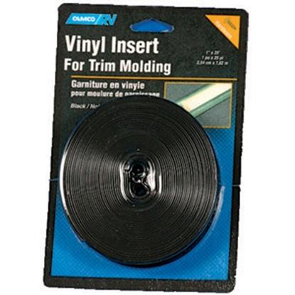 """Picture of Camco  Black 1"""" x 25' Vinyl Insert Trim 25113 20-1421"""