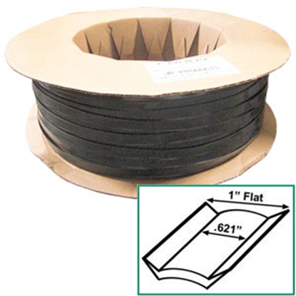 "Picture of JR Products  Black 1"" x 1000' Vinyl Insert Trim 10161 20-1438"