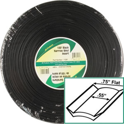 Picture of JR Products  Standard Black 3/4 x 100' Narrow Vinyl Insert Trim 11291 20-1466