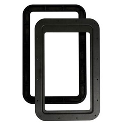Picture of AP Products  Black Slim Shade (TM) Entry Door Window Frame Only 015-2014782 20-1559