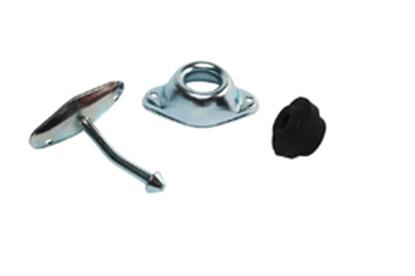 """Picture of RV Designer  Metal 3"""" Angled Plunger Entry Door Holder, Set E255 20-1812"""