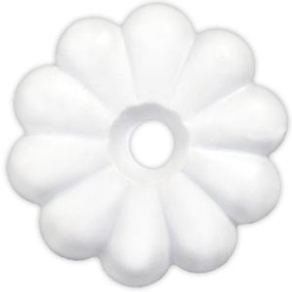 Picture of JR Products  White Plastic Rosettes 20455 20-1855