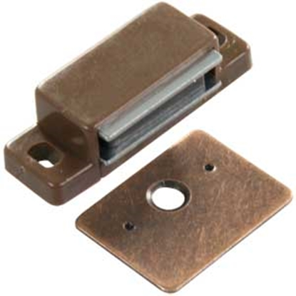 Picture of JR Products  Brown Flat Strike Side Mount Magnetic Catch, 2-Pack 70265 20-1891