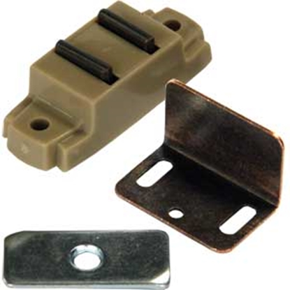 "Picture of JR Products  Tan Surface Mount w/ ""L"" & Flat Strikes Magnetic C 70275 20-1892"