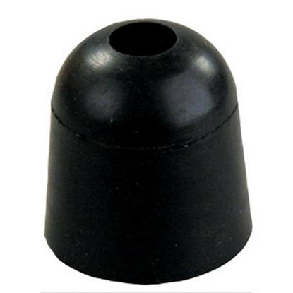 """Picture of JR Products  Black Rubber 1"""" x 1"""" Screw Mount Door Stop Bumper 11745 20-2035"""