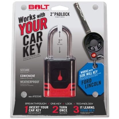 Picture of BOLT Locks  Steel Key Padlock For Ford/Lincoln Model Side Cut Keys 7023540 20-3600
