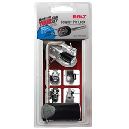 """Picture of BOLT Locks  3-3/8"""" Stainless Steel Pin Trailer Coupler Lock 7025290 20-3602"""