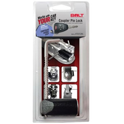 """Picture of BOLT Locks  3-3/8"""" Stainless Steel Pin Trailer Coupler Lock 7025286 20-3603"""