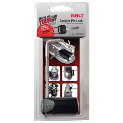 """Picture of BOLT Locks  3-3/8"""" Stainless Steel Pin Trailer Coupler Lock 7025289 20-3604"""