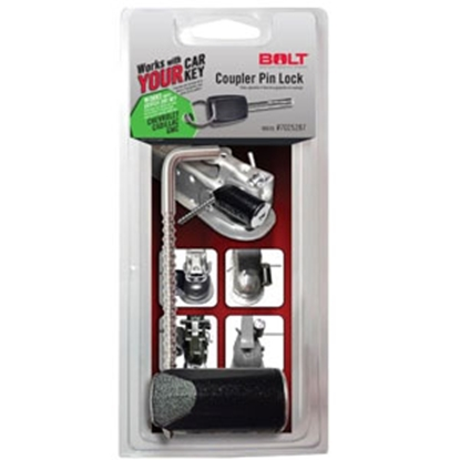 """Picture of BOLT Locks  3-3/8"""" Stainless Steel Pin Trailer Coupler Lock 7025287 20-3608"""