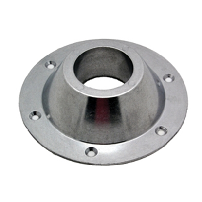 "Picture of AP Products  6-5/8"" Chrome Round Surface Mount Table Leg Base 013-1119 20-3710"