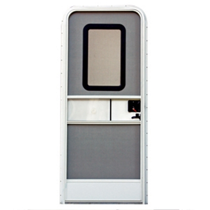 "Picture of AP Products  Polar White w/WH Window Frame RH 24""x68"" Square Entry Door 015-217711 20-4000"