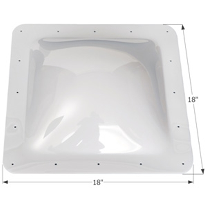 "Picture of Icon  Clear 14""x14"" RO 18""x18"" Flange Skylight 01818 22-0013"