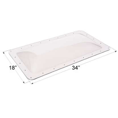 "Picture of Icon  Clear 14""x30"" RO 18""x34"" Flange Skylight 01848 22-0014"
