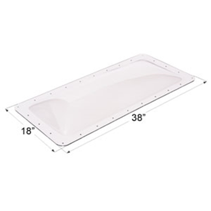 "Picture of Icon  Clear 14""x34"" RO 18""x38"" Flange Skylight 01850 22-0015"