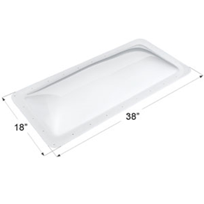 "Picture of Icon  White 14""x34"" RO 18""x38"" Flange Skylight 01851 22-0016"
