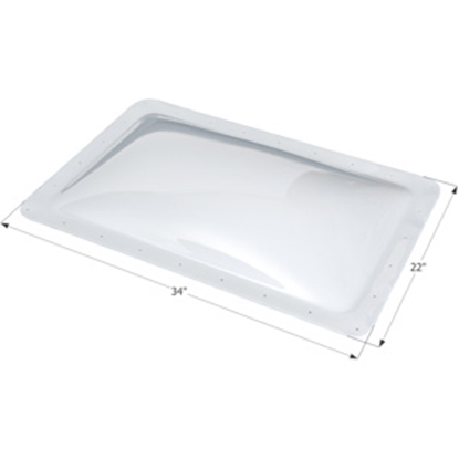 """Picture of Icon  White 18""""x30"""" RO 22""""x34"""" Flange Skylight 01855 22-0018"""