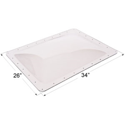 "Picture of Icon  Clear 22""x30"" RO 26""x34"" Flange Skylight 01858 22-0019"