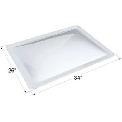 "Picture of Icon  White 22""x30"" RO 26""x34"" Flange Skylight 01859 22-0020"