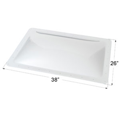 "Picture of Icon  Clear 22""x34"" RO 26""x28"" Flange Skylight 01860 22-0021"