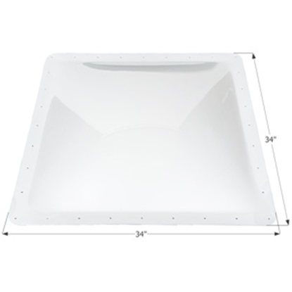 """Picture of Icon  Clear 30""""x30"""" RO 34""""x34"""" Flange Skylight 01862 22-0023"""