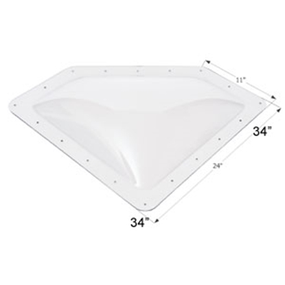 "Picture of Icon  Clear 8""x20"" RO 11""x24"" Flange Neo Angle Skylight 01864 22-0025"