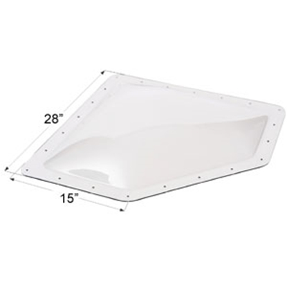 "Picture of Icon  Clear 12""x24"" RO 15""x28"" Flange Neo Angle Skylight 01866 22-0027"