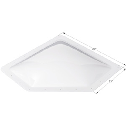 "Picture of Icon  White 12""x24"" RO 15""x28"" Flange Neo Angle Skylight 01867 22-0028"