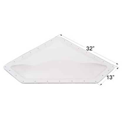 "Picture of Icon  Clear 10""x28"" RO 13""x32"" Flange Neo Angle Skylight 01868 22-0029"