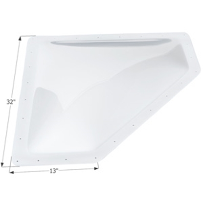 "Picture of Icon  White 10""x28"" RO 13""x32"" Flange Neo Angle Skylight 01869 22-0030"
