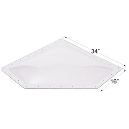 "Picture of Icon  Clear 13""x30"" RO 16""x34"" Flange Neo Angle Skylight 01870 22-0031"