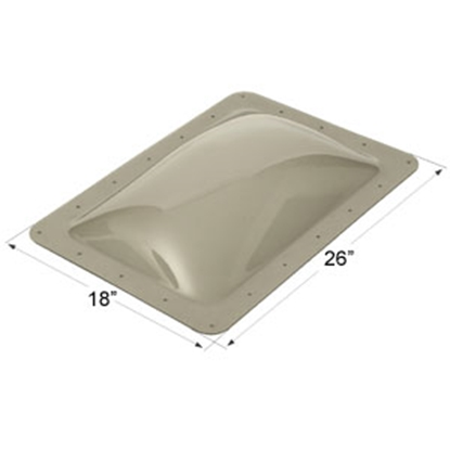 "Picture of Icon  Smoke 14""x22"" RO 18""x26"" Flange Skylight 12080 22-0033"